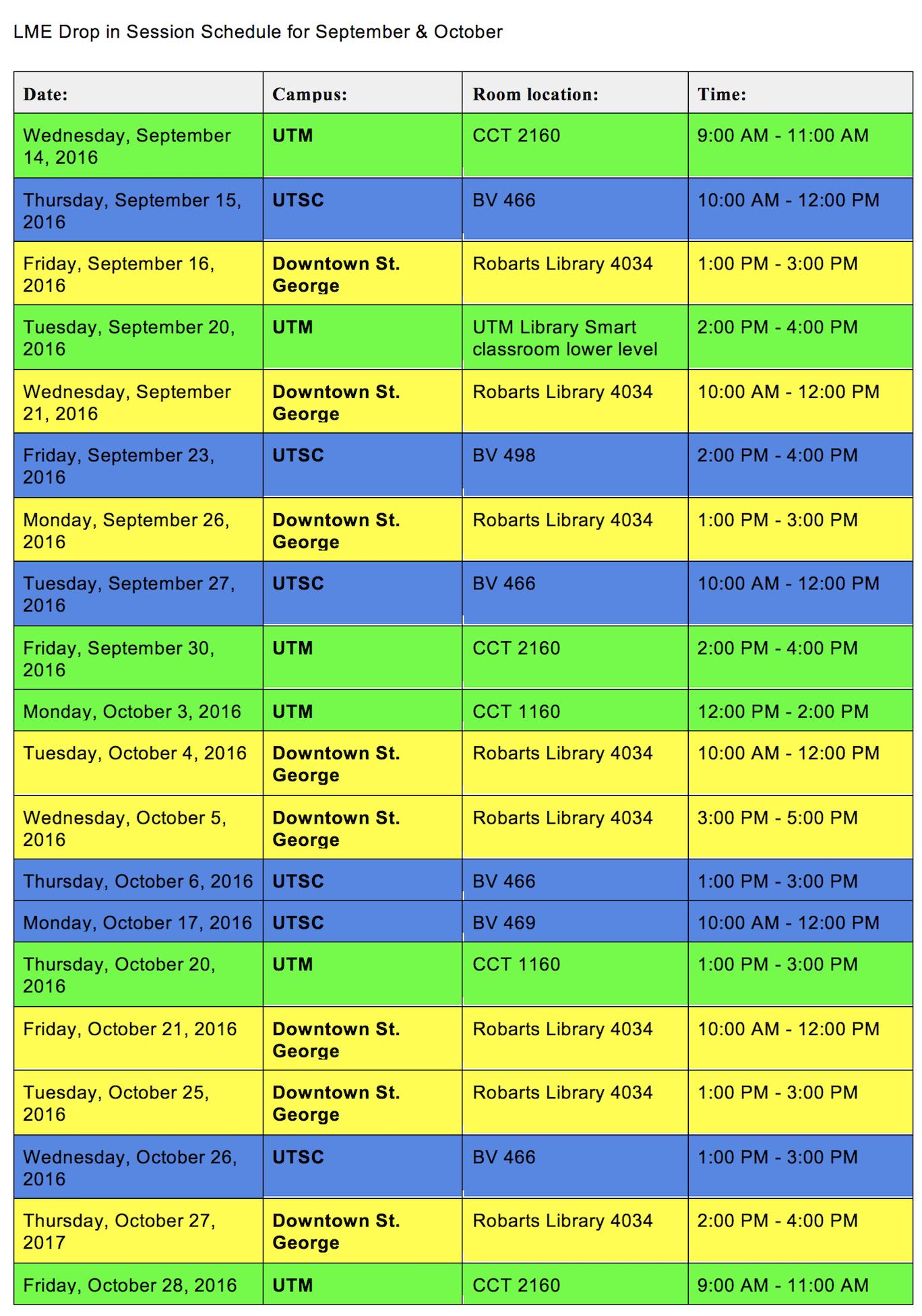 LME Schedule
